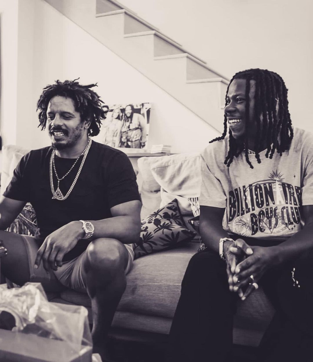 Stonebwoy spends time with Rohan Marley in Miami; continues works on his next album